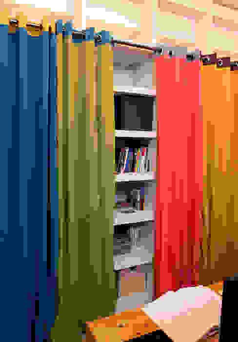 高彩度的自在居家,讓窗簾也能營造主色調|Donzu 拼色布簾.布簾 / 門簾 / 隔間簾 根據 MSBT 幔室布緹 地中海風 MDF