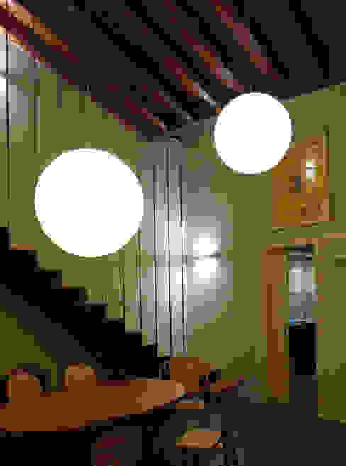 Vista del comedor: Casas unifamilares de estilo  de SANTI VIVES ARQUITECTURA EN BARCELONA, Moderno
