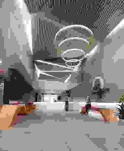 Vestibulo de AAVE Diseño y Construcción Moderno