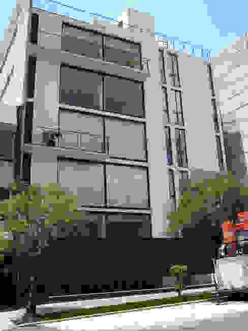 Proyecto Arquitectónico Anzures BLAUE MINZE Condominios Concreto Blanco