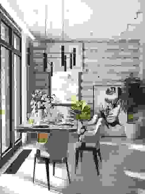 Визуализация столовой в загородном доме Столовая комната в скандинавском стиле от Глинкина Ирина Скандинавский