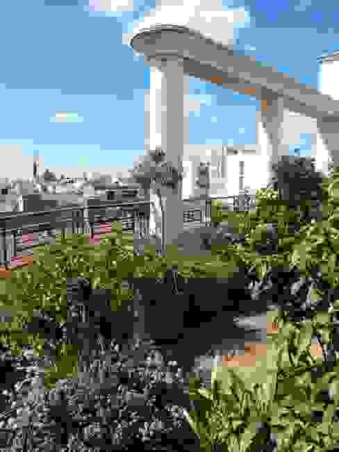 Una terraza con vistas Balcones y terrazas de estilo ecléctico de Arcadia Jardines y paisajes Ecléctico
