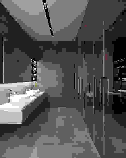 Pure White Living / WC MENTAL ARC DESIGN Endüstriyel