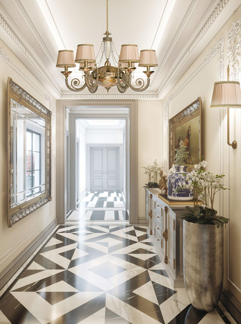 Baroque style of chandeliers as a hallway inspiration Classic style corridor, hallway and stairs by Luxury Chandelier Classic Copper/Bronze/Brass