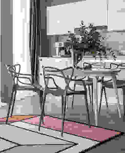 Квартира для молодой семьи BON TON Кухня в стиле модерн