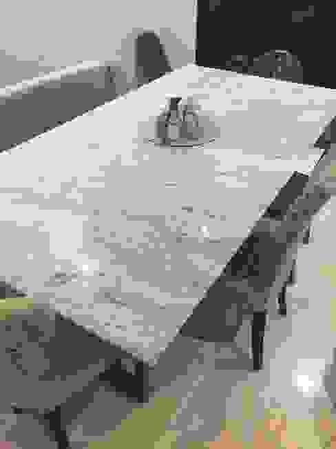 Mesa de Mármol Carrara Venatto Mármol Gurza ComedorMesas Mármol Blanco