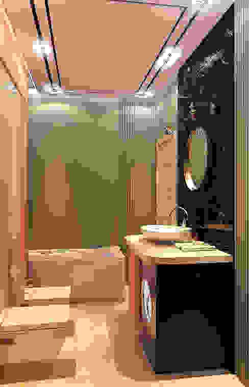 СТИЛЬНЫЙ МИНИМАЛИЗМ (ванная) Ванная комната в стиле минимализм от STUDIO DESIGN КРАСНЫЙ НОСОРОГ Минимализм
