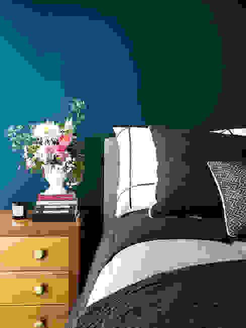 Master bedroom Sentido Arquitectura Recámaras pequeñas Gris