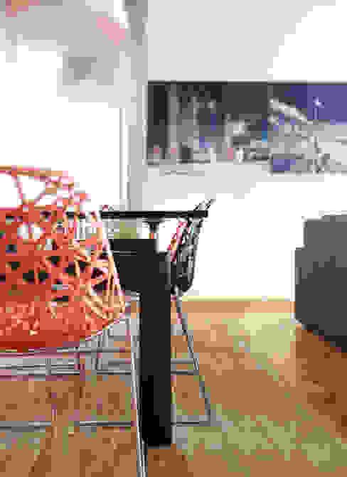 soggiorno Scaglione Workshop architettura e design Soggiorno moderno Arancio