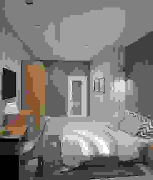 Спальня в п. Кисловка (Томский район) Спальня в стиле минимализм от Zhanna Kazakova Минимализм