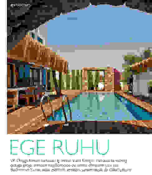 Ege evi Rustik Bahçe vk design Rustik Ahşap Ahşap rengi