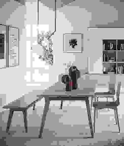 Il tavolo che non può mancare Sala da pranzo moderna di Mobili a Colori Moderno Legno Effetto legno
