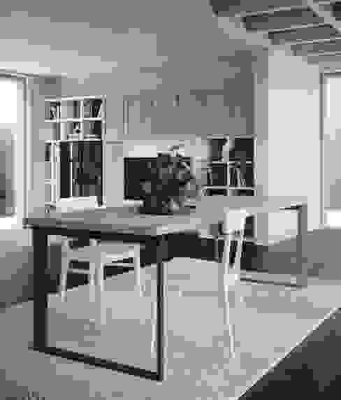 Lo stile industrial abita qui Sala da pranzo in stile industriale di Mobili a Colori Industrial Ferro / Acciaio