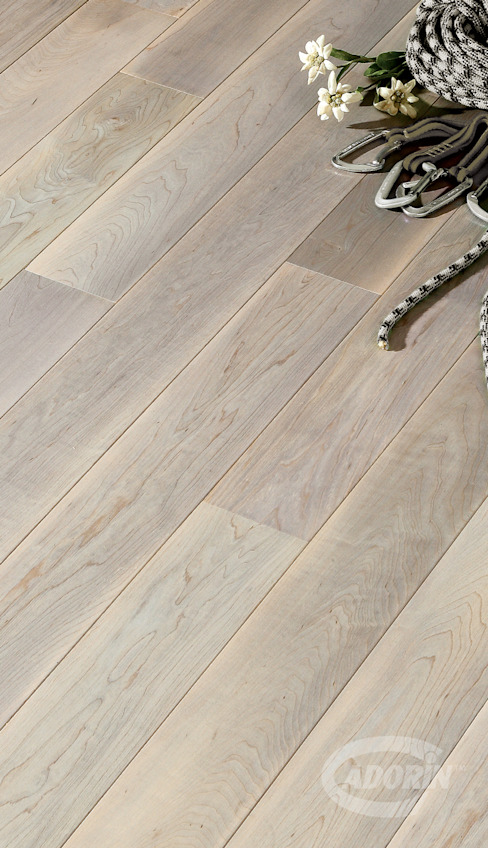 Canadian Hard Maple, Brushed, Edelweiss Grey by Cadorin Group Srl - Italian craftsmanship Wood flooring and Coverings Modern