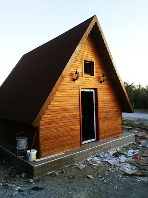 ASK MİMARLIK İNŞAAT Country style house Wood Wood effect