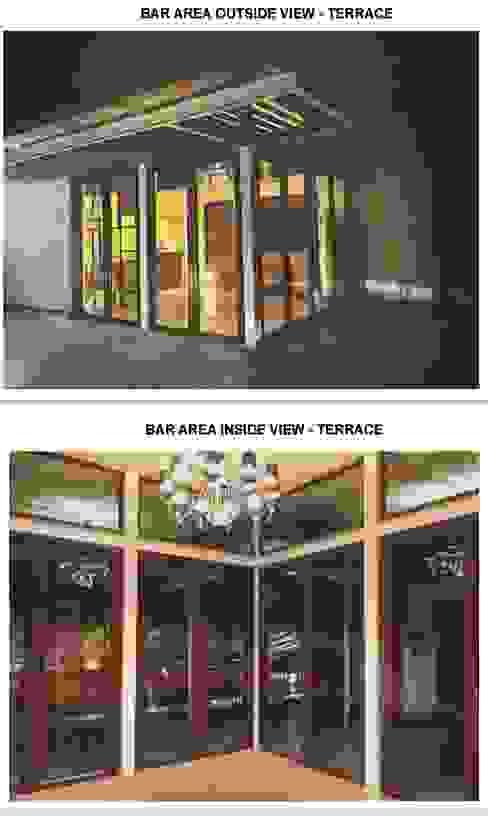 """Decor Villa """"Decorilla"""" Monoceros Interarch Solutions Minimalist balcony, veranda & terrace"""