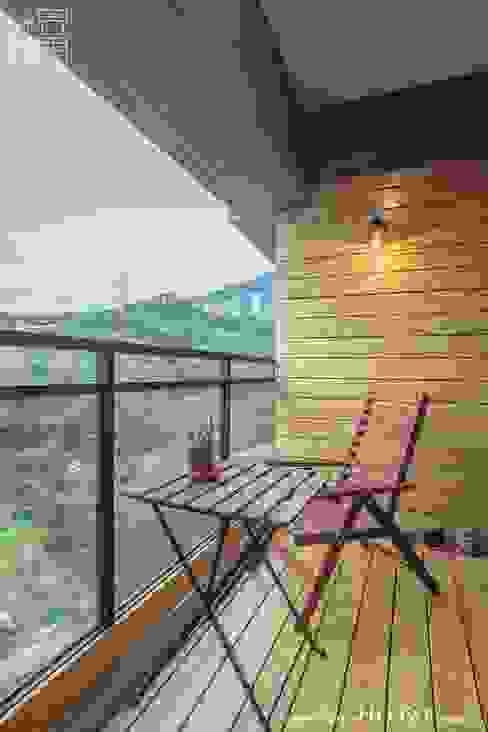 陽台 光合作用設計有限公司 陽台 實木 Wood effect