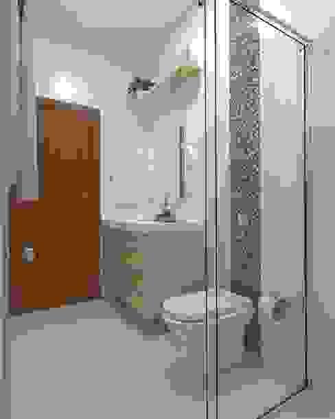 Banheiro social - outro ângulo Daniela Ponsoni Arquitetura Banheiros modernos