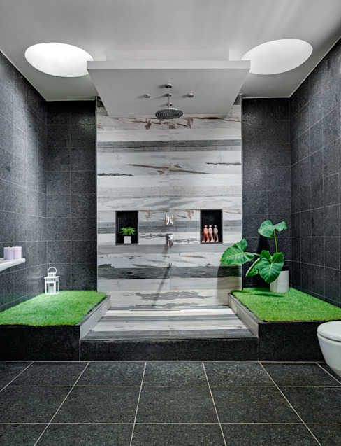 C - House Eclectic style bathroom by M9 Design Studio Eclectic