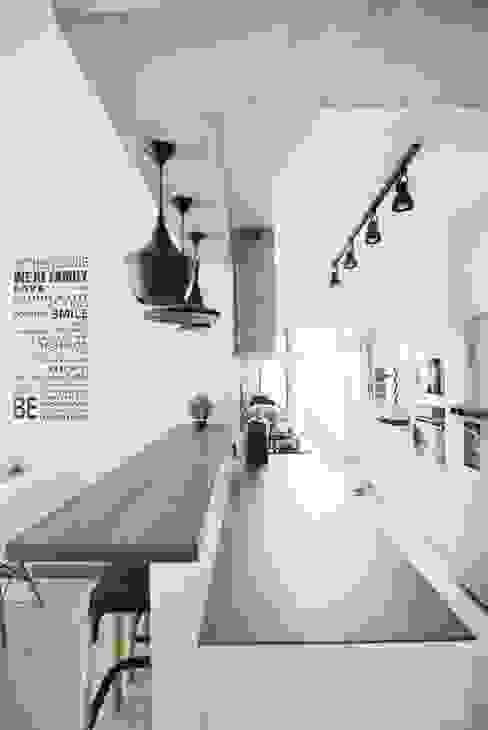 Two-Tone Kitchen Countertops by Rebel Designs Modern