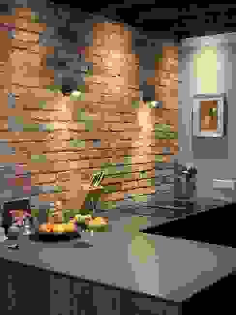 Küchenrückwand Antik-Stein Esszimmer im Landhausstil Ziegel Rot