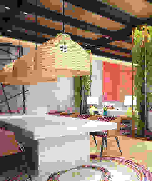 Ethnic House Derya Bilgen Rustik Oturma Odası Ahşap-Plastik Kompozit Ahşap rengi