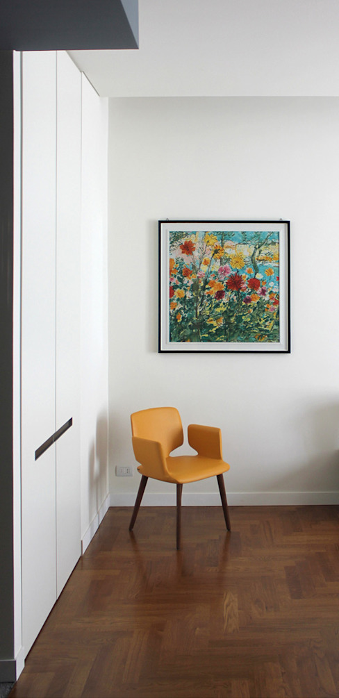 Onice Architetti Modern style bedroom Wood Yellow