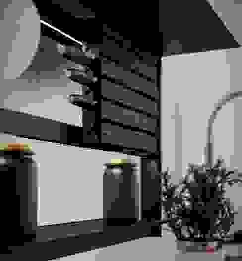 Portacoltelli Hang Cucina moderna di Damiano Latini srl Moderno Legno Effetto legno