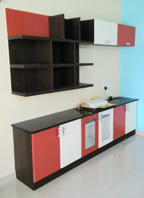 TV Unit with multiple storage: classic  by Ajith interiors,Classic Plywood