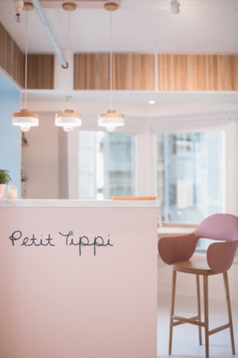 Reception Counter & POS station S.Lo Studio Minimalist offices & stores Plywood Pink