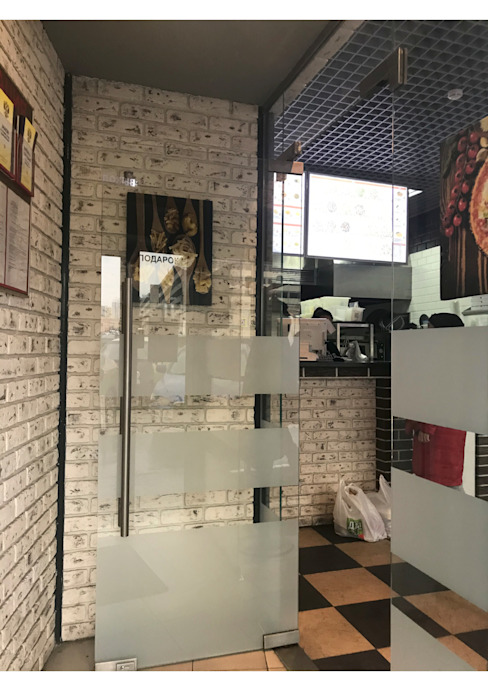 Двери и перегородки ресторан БУРГЕР КУЛЬТ от СТЕКЛОВИЧ Модерн Стекло