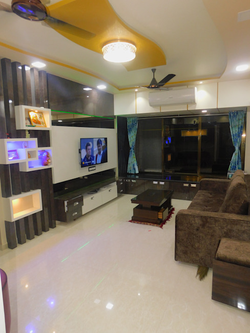 living area: modern  by AXLE INTERIOR,Modern Plywood