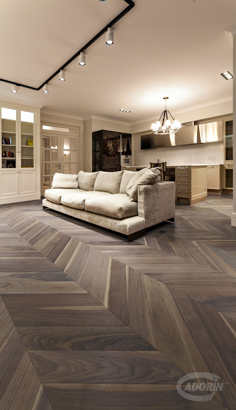 Module Planks Collection Rustic style living room by Cadorin Group Srl - Top Quality Wood Flooring Rustic Wood Wood effect