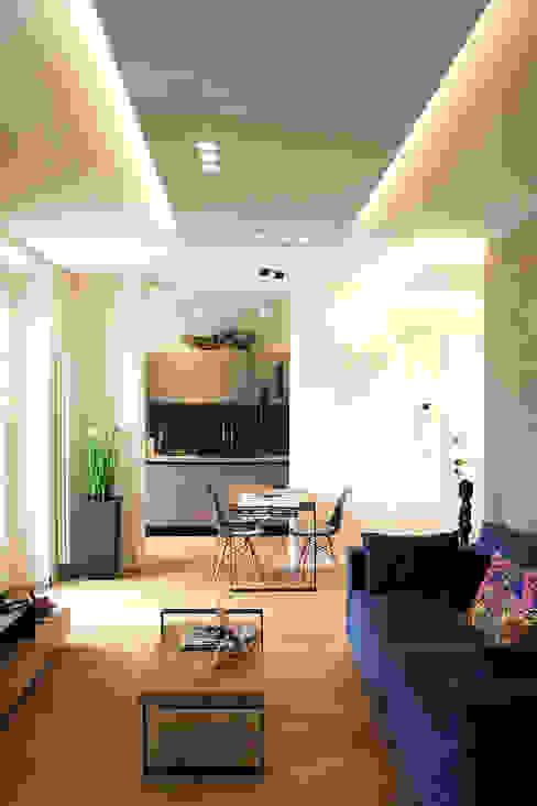 Salon moderne par Onice Architetti Moderne Béton armé