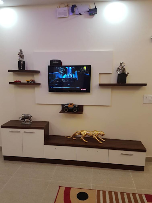 Simple TV Unit Design by Designers Gang