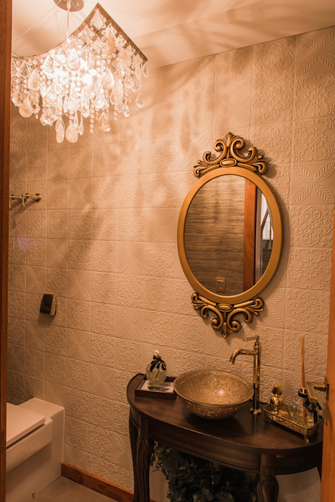 Lavabo Élcio Bianchini Projetos Banheiros ecléticos