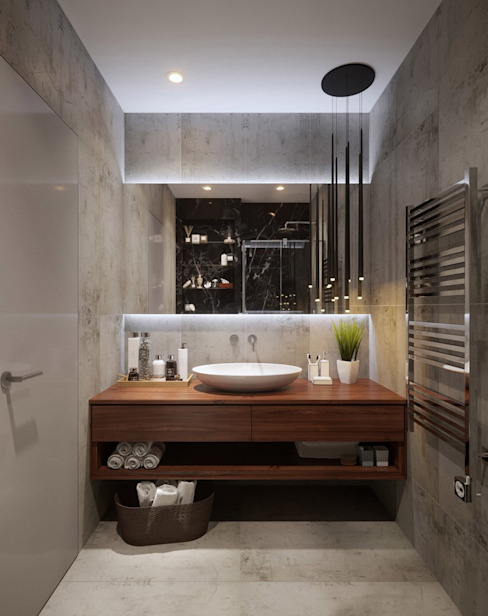Квартира 50м.кв. г.Москва Ванная комната в скандинавском стиле от Orel Andre Скандинавский