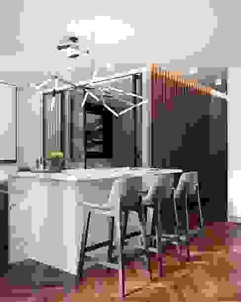 Квартира 50м.кв. г.Москва Столовая комната в скандинавском стиле от Orel Andre Скандинавский