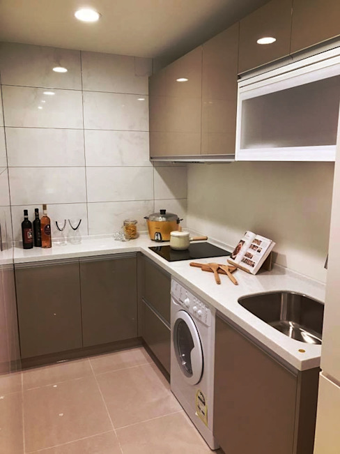 L型小宅廚房 微.櫥設計/We.Design Kitchen 現代廚房設計點子、靈感&圖片