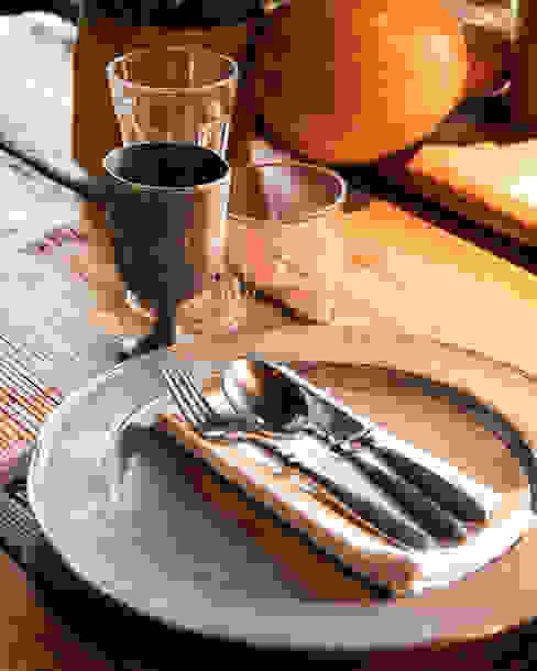 Sala ristorante - dettaglio linea Francesca Parolin Hotel in stile rustico
