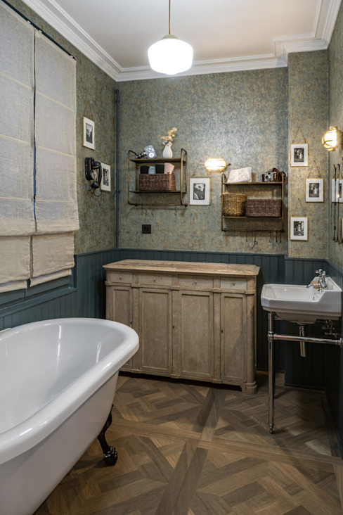 Salle de bain rétro 4eme Mur-Intérieurs Salle de bain moderne