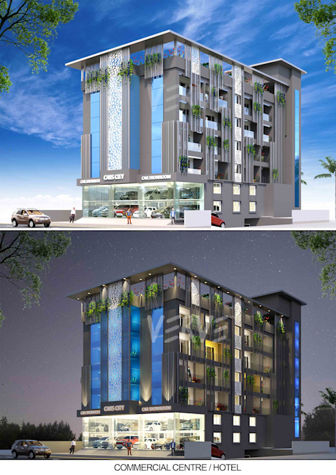 Boutique hotel in Hubli Modern hotels by VERVE GROUP Modern Concrete
