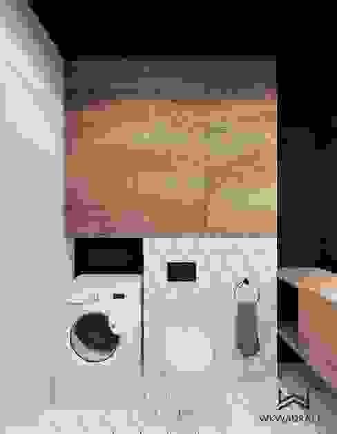 Łazienka w stylu loftowym Nowoczesna łazienka od Wkwadrat Architekt Wnętrz Toruń Nowoczesny Płytki