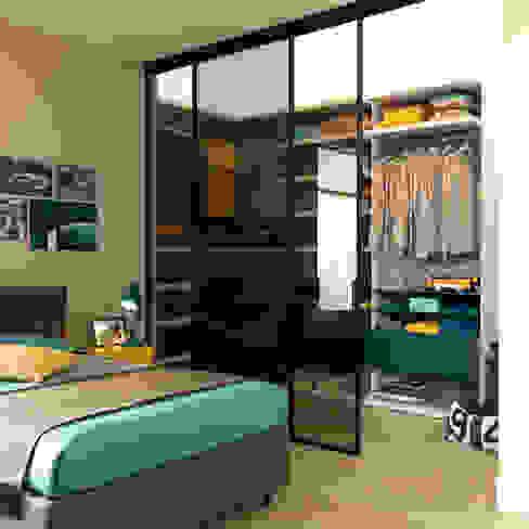 Cabina armadio con portale Camera da letto moderna di Moretti Compact Moderno