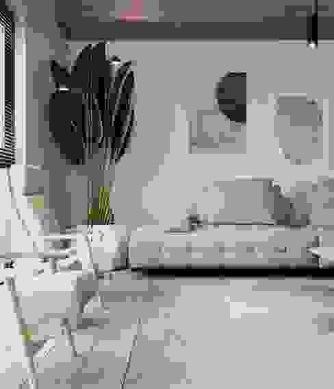 Modern House / Frankfurt Murat Aksel Architecture Modern Oturma Odası Beton Beyaz