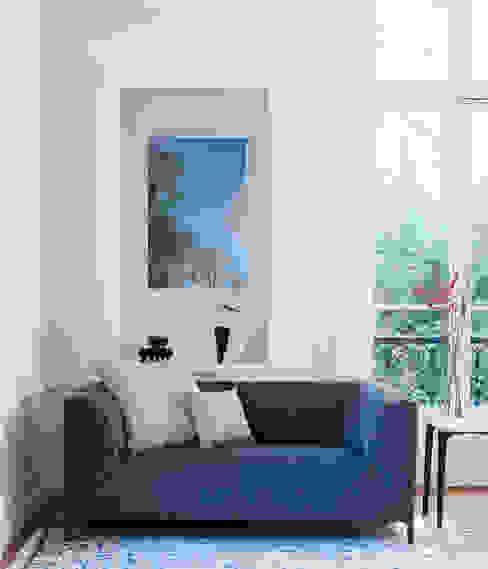 Canapé Montaigne (en tissu bleu) par Imagine Outlet Moderne