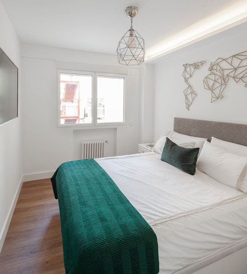 Dormitorio principal WINK GROUP Cuartos de estilo moderno Blanco