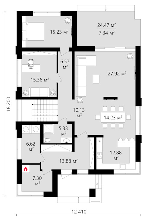 Проект дома TMV 23 от TMV Architecture company