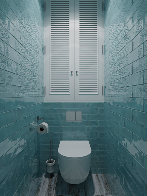 Панелька в Северном Чертаново Ванная комната в скандинавском стиле от 3D GROUP Скандинавский