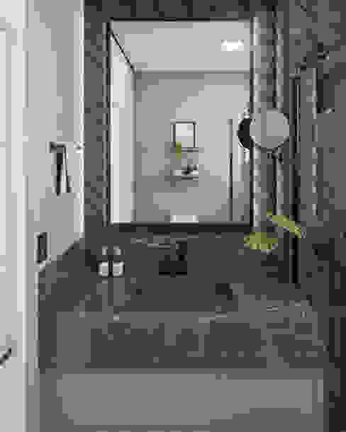 AJP ARQUITETOS ASSOCIADOS BathroomMirrors Marble Black